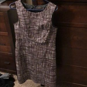 Beautiful brown and white patterned dress